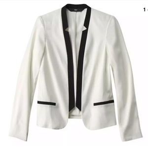 MOSSIMO CONTRAST TRIM DINNER JACKET - SNOW WHITE
